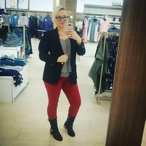 ✨👖[Kensie]red skinny jean 10/30 mid rise